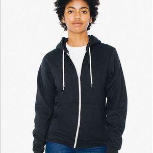American Apparel Black Hooded Sweatshirt